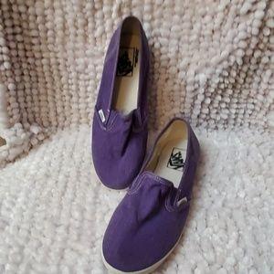 Van's purple slip on tennis shoes size 5.5 Mens